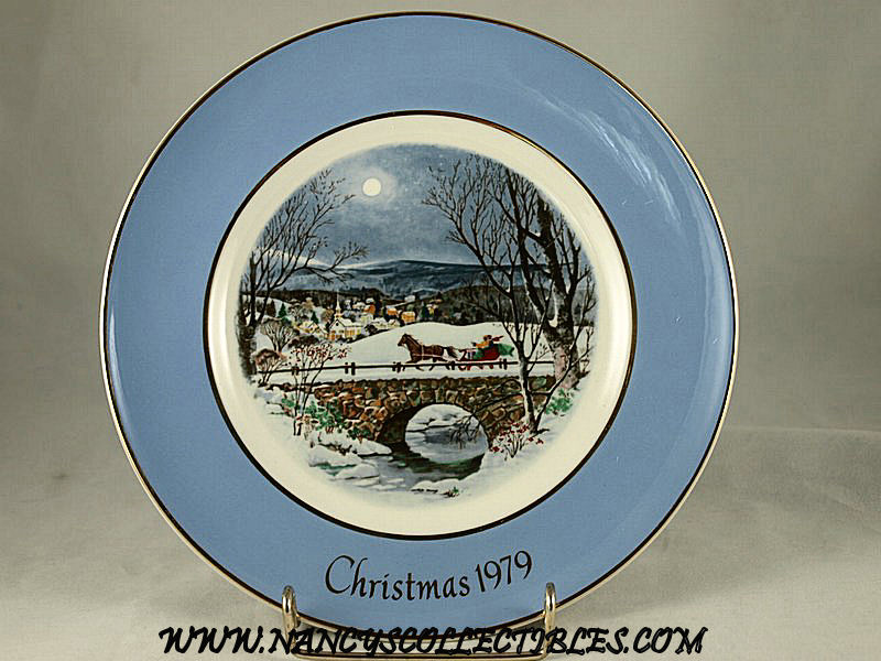 christmas plate 1979 dashing through the snow