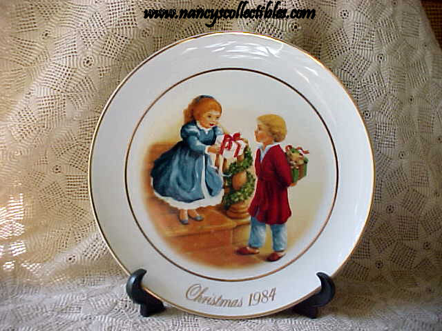 avon christmas plate 1984 celebrating the joy of giving