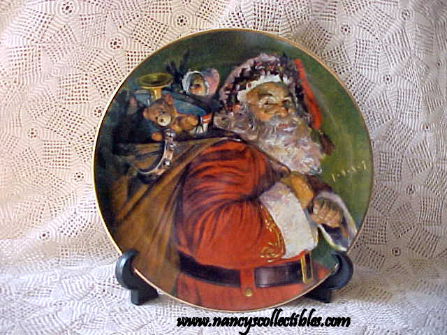 christmas plate 1987 the magic santa brings