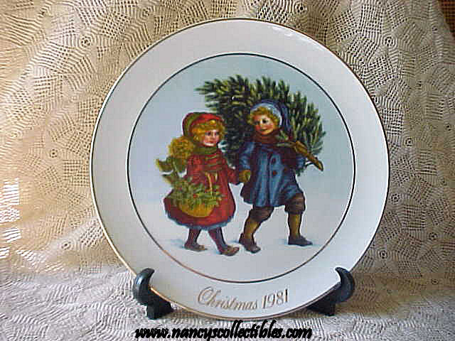 avon christmas plate 1981 sharing the christmas spirit