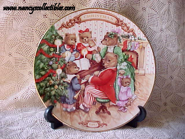avon christmas plate 1989 together for christmas