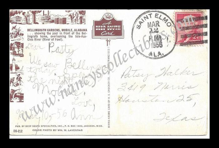 Vintage post cards nancy 39 s antiques collectibles for Bellingrath coupons