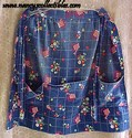 Blue Cotton Print Apron