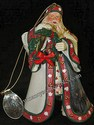 Ashton-Drake-Thomas Kinkade's Ornament Collection-Christmas Journey's End Santa