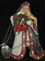 Ashton-Drake-Thomas Kinkade's Ornament Collection-Christmas Journey's End Santa