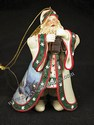 Ashton-Drake-Thomas Kinkade's Ornament Collection-Dawn Of Christmas Day Santa