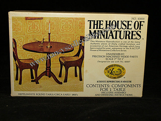 house of miniatures instructions