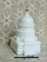 Avon The Capitol - Wild Country After Shave - White Milk Glass