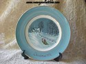 Avon Christmas Plate 1976 - Bringing Home The Tree