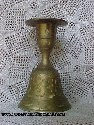 Engraved Brass Bell/Candleholder from India