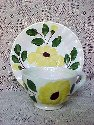Blue Ridge Cup and Saucer Set -Yellow Nocturne - Colonial Shape