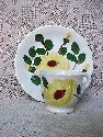 Blue Ridge Demitasse Set -Yellow Nocturne - Colonial Shape