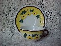 Vernon Kilns Brown Eyed Susan Pattern Cup and Saucer