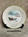 Metlox Songs of Christmas Jingle Bells 1972 Plate