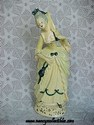 Chalkware Victorian Lady Figurine