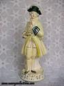 Chalkware Victorian Man Figurine