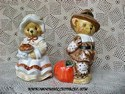 Cherished Teddies Thanksgiving Salt & Pepper Shakers