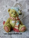 Cherished Teddies - Bear With Green Stocking Cap