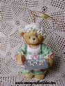Cherished Teddies - Girl Holding Tray of Cookies