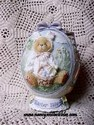 Cherished Teddies Easter, 1996 - Egg Ornament