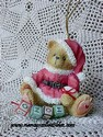 Cherished Teddies - Santa With Ho-Ho-Ho Blocks