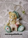 Cherished Teddies - Boy Bear Elf With Reindeer - Retired