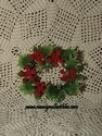 Miniature Plastic Christmas Wreath