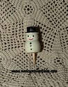 Miniature Wooden Snowman Pick