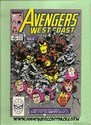 Marvel Comics - West Coast Avengers Mid Nov., 1989 Number 51