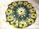 Hand-Crocheted Green and Yellow Bowl Cover
