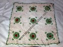 Hand-Crocheted White and Green Pillow Cover
