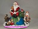 Santa on Globe Musical by Dillard's