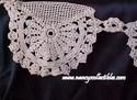Ecru Crocheted Border-Close-Up View