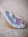 Enesco Growing Up Girls Baby In Cradle - Sideview