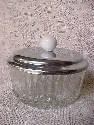 Pressed Glass Powder Box