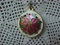 Hallmark Miniature Cloisonne' Poinsettia Ornament