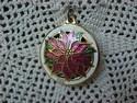 Hallmark Miniature Cloisonne' Poinsettia Ornament