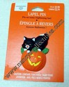Ambassador/Hallmark Black Cat Atop Pumpkin Lapel Pin