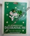 Hallmark Mouse Holding Shamrock Lapel Pin