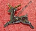 Christmas Silver Reindeer Pin