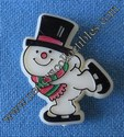 Christmas Skating Snowman Pin