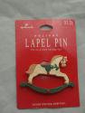 Hallmark Holiday Rocking Horse Lapel Pin