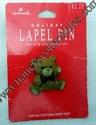 Hallmark Christmas Bear w/Red Bow Lapel Pin