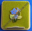 Hallmark Cloisonne' Blue Flowers Lapel Pin