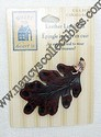Hallmark Fall Leather Leaf Lapel Pin