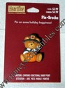 Hallmark Heartline Thanksgiving Pilgrim Bear with Pumpkin Lapel Pin