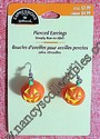 Hallmark Jack-O-Lantern Pierced Earrings