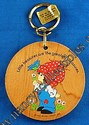 Hallmark Wood Painted Key Chain