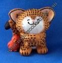 Hallmark Leopard w/red bird Magnet