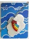 Hallmark Cloisonne' Rainbow & Hearts Lapel Pin